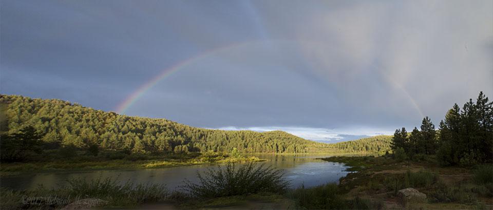 Full Rainbow over Spooner Lake