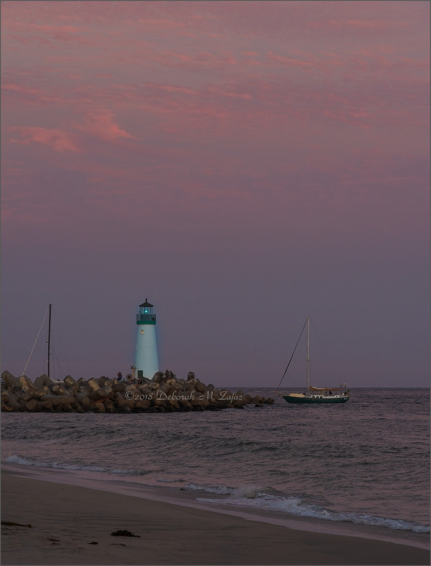Belt of Venus Surrounds the Walton Lighthouse
