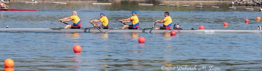 Sweeps 4 man team with Coxswain