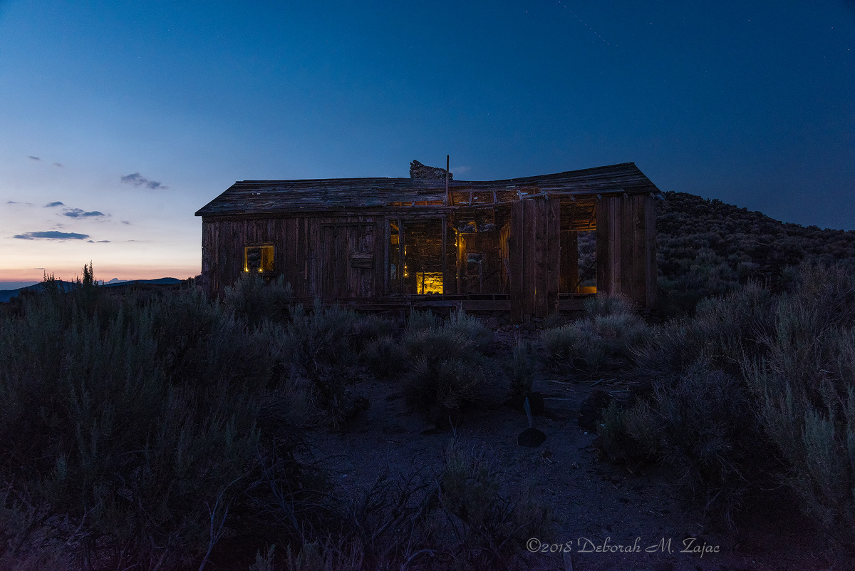 The Old Ranch Cabin Front View