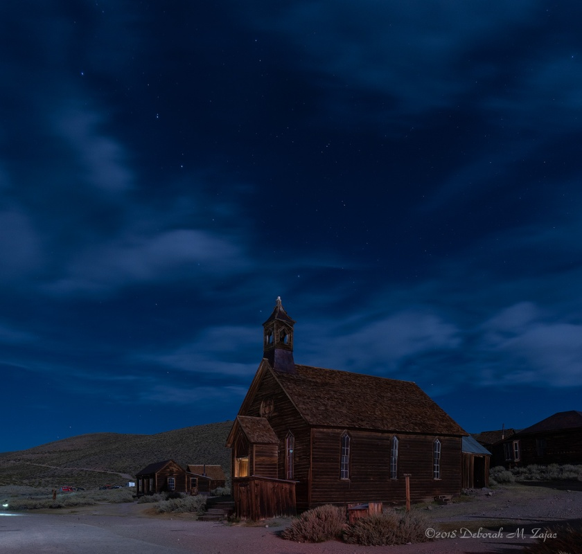 The Big Dipper over the Chapel in Bodie State Park