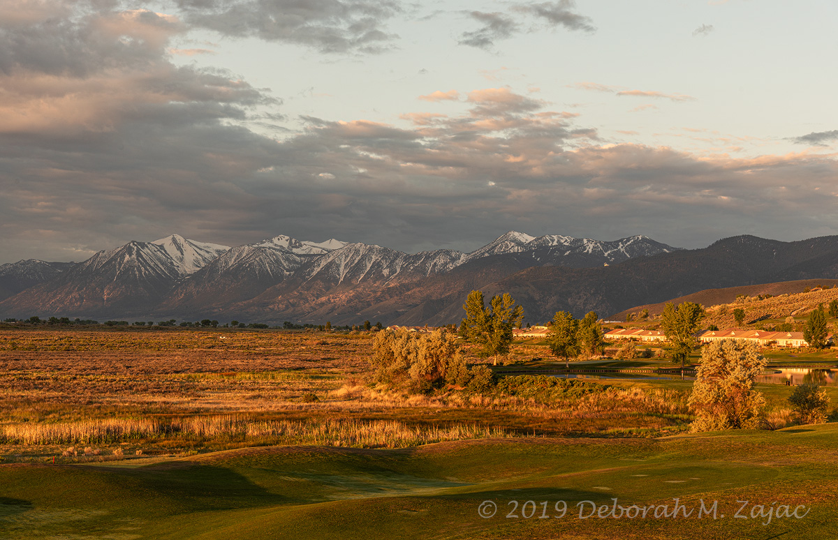 Golden Hour on the Eastern Sierras and Neighborhood