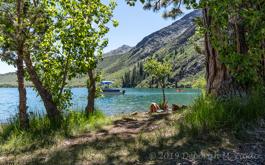 Girl Reading a Book at Convict Lake