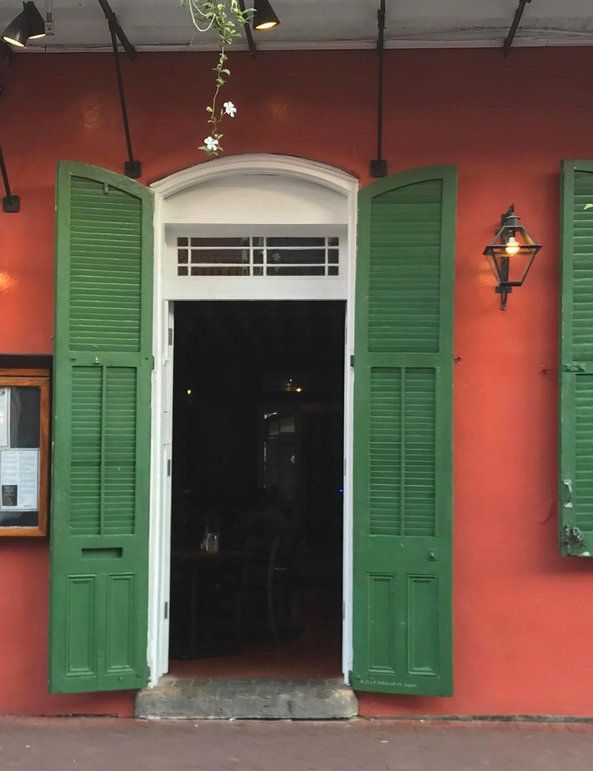 Door with Green Shutters New Orleans