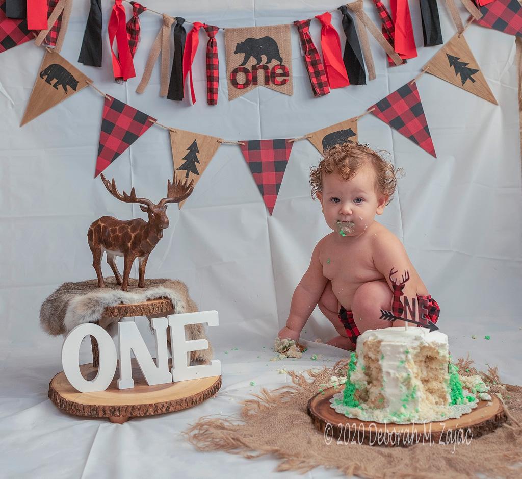 Landon's Cake Smash Portrait Sitting