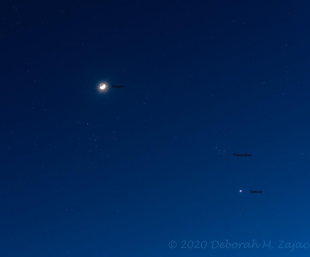 Moon Venus Pleiades Conjunction