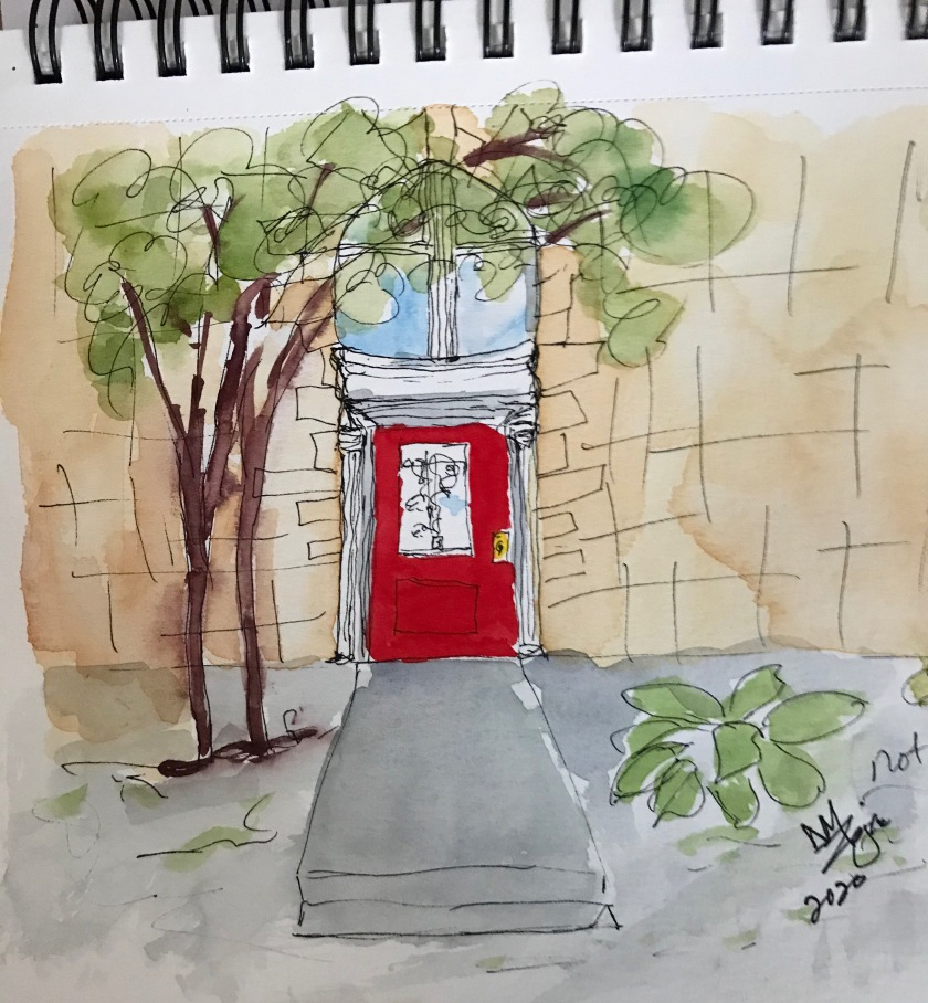 Red Door Carson City watercolor