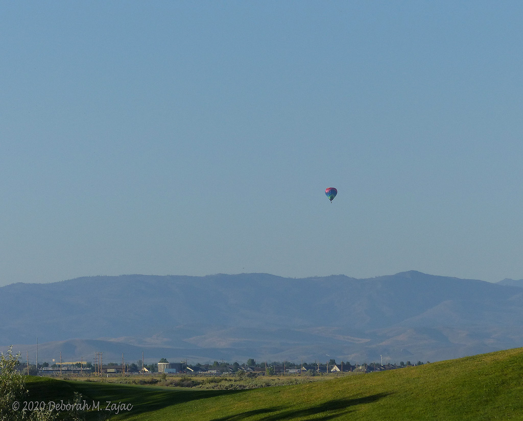 Hot Air Balloon Rising over Carson Valley