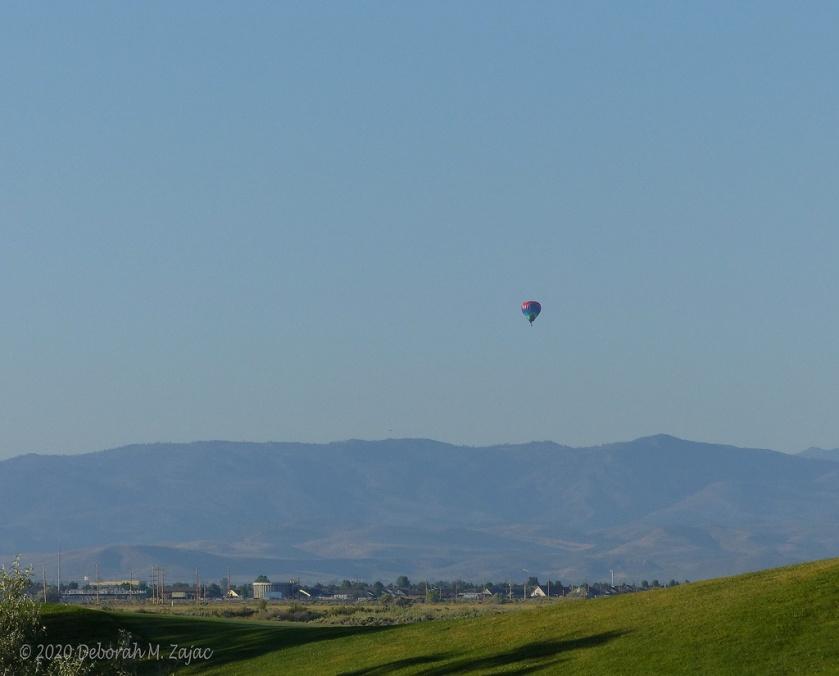 Hot Air Balloon Rising over Carson Valley